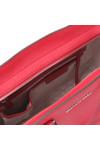 Michael Kors Womens Red Selma Large Leather Satchel