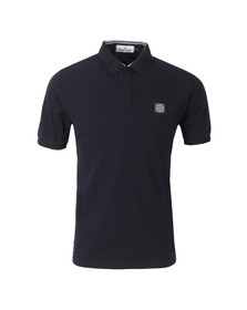 Stone Island Mens Blue Tipped Regular Fit Polo Shirt