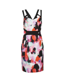 French Connection Womens Pink Miami Graffiti Strappy Dress