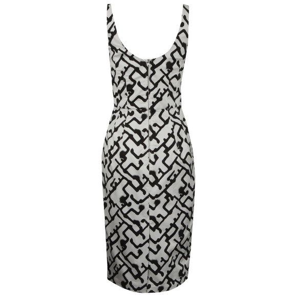 French Connection Womens White Downtown Grid Dress main image