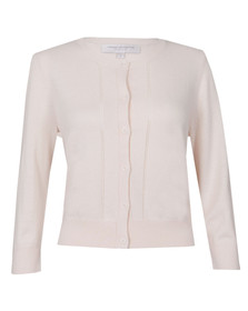 French Connection Womens Pink Spring Bambino Knit Cardigan