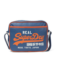 Superdry Mens Blue Superdry Mashup Alumni Shoulder Bag