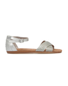 Toms Womens Silver Correa Sandal