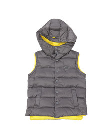 Armani Junior  Boys Grey B4L03 Down Gilet