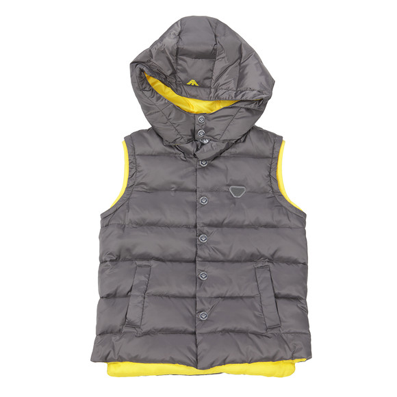 Armani Junior  Boys Grey B4L03 Down Gilet main image