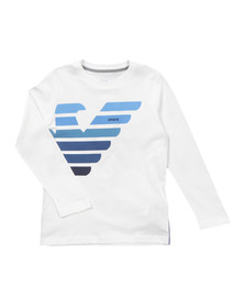 Armani Junior  Boys Off-white BXH06 Logo T Shirt