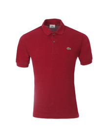 Lacoste Mens Red L1212 Bordeaux Plain Polo Shirt