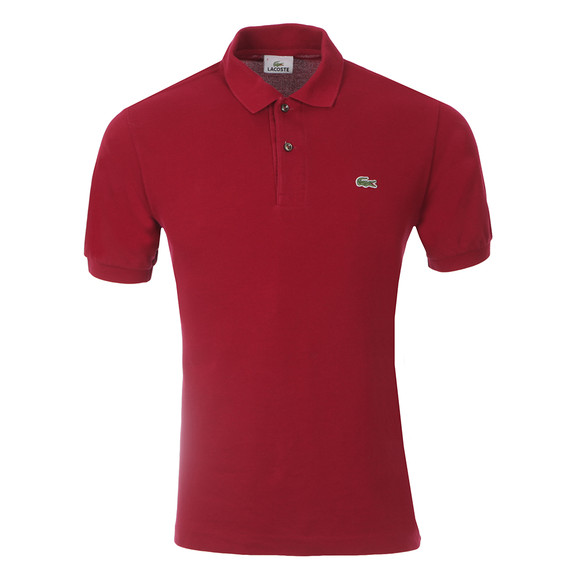 Lacoste Mens Red L1212 Plain Polo Shirt main image