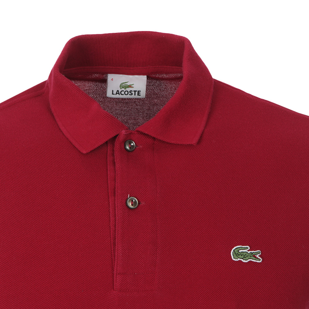 L1212 Bordeaux Plain Polo Shirt main image