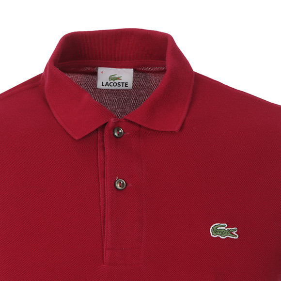 Lacoste Mens Purple L1212 Plain Polo Shirt main image