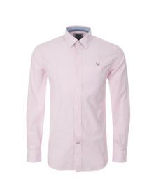 Crew Mens Pink L/S Classic Stripe Shirt