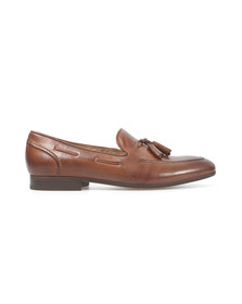H By Hudson Mens Brown Pierre Leather Slip On