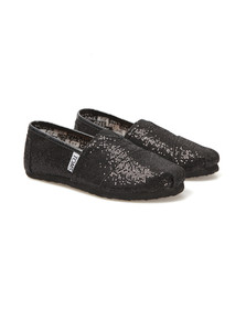 Toms Boys Black Toms Youth Classic Canvas