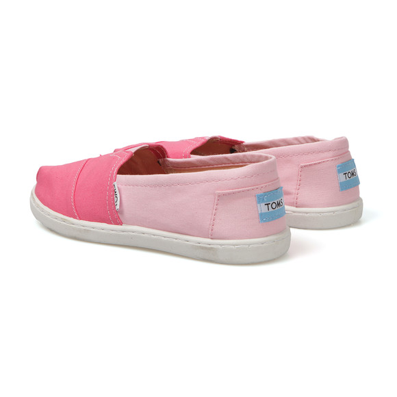 Toms Girls Pink Girls Classic Colour Block Canvas main image