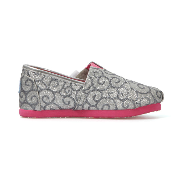Toms Girls Silver Swirl Pattern Canvas main image
