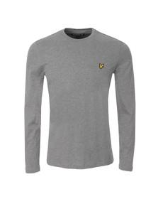 Lyle and Scott Mens Grey LS Crew Neck T-Shirt