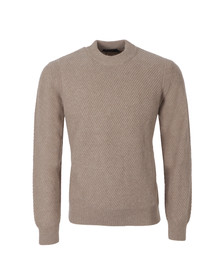 Paul Smith Jeans Mens Beige Chunky Ribbed Jumper