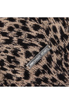 Michael Kors Womens Brown Jaguar Leather Pocket Top