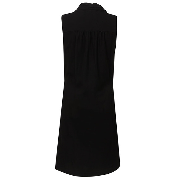 Michael Kors Womens Black Draped Front Dress main image