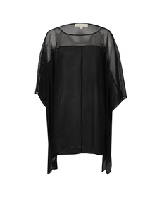 Michael Kors Womens Black Flutter Top