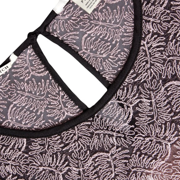 Maison Scotch Womens Red Leaf Embroidery Top main image