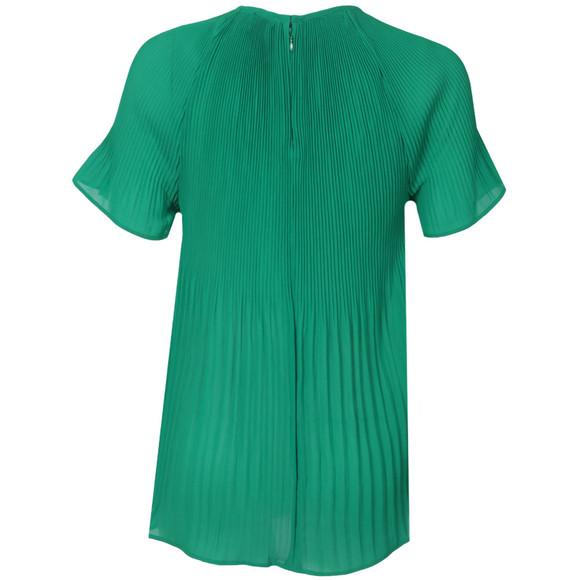 Michael Kors Womens Green Pleated Neck Top main image