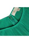 Michael Kors Womens Green Pleated Neck Top