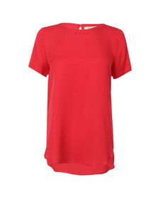 Michael Kors Womens Red Woven T Shirt