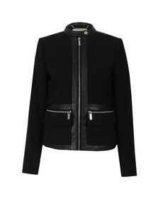 Michael Kors Womens Black Bordered Jacket