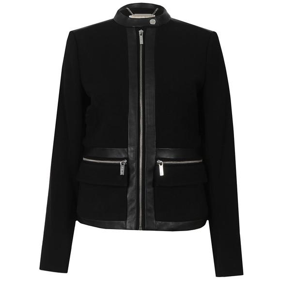 Michael Kors Womens Black Bordered Jacket main image