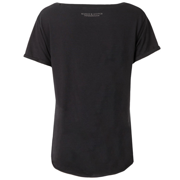 Maison Scotch Womens Black Black & White Print T Shirt main image