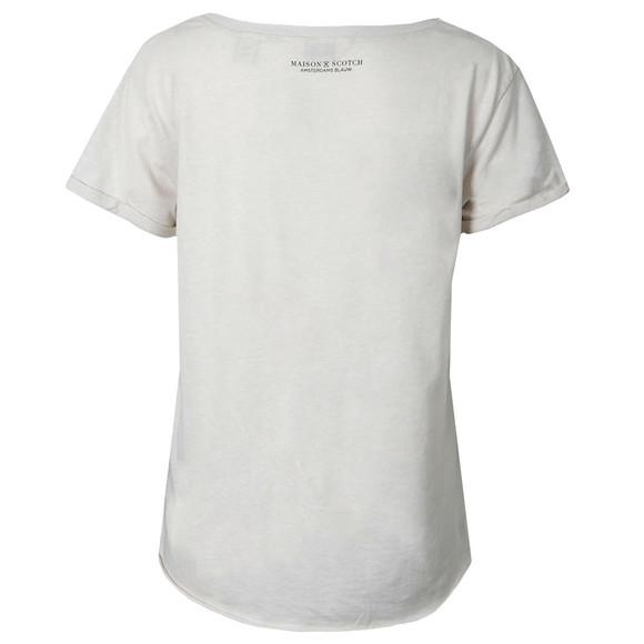 Maison Scotch Womens Off-white Black & White Print T Shirt main image