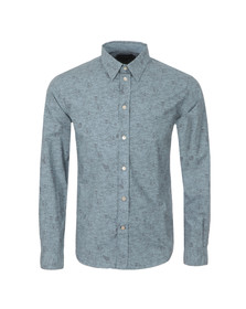 Paul Smith Jeans Mens Blue Tailored Fit Hippo Shirt