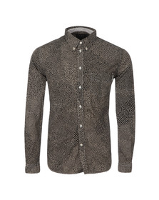 Paul Smith Jeans Mens Black Tailored Fit All Over Patterned Shirt