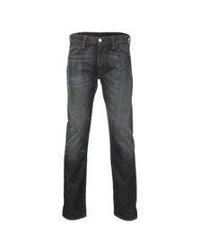 Levi's Mens Black 504 Regular Straight Fit Jeans