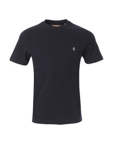 Original Penguin Mens Blue Pin Point Embroidered Logo T-Shirt