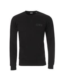 Edwin Mens Black Classic Logo Crew Sweat