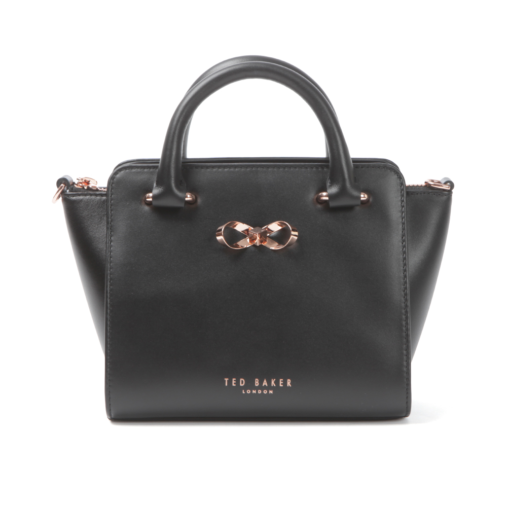 902d910d214455 Ted Baker Womens Black Hollie Loop Bow Leather Tote Bag main image. Loading  zoom
