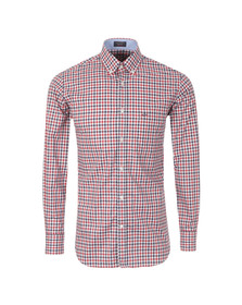 Paul & Shark Mens Red L/S Check Shirt