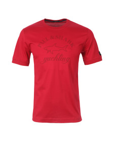 Paul & Shark Mens Red S/S T-Shirt