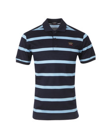 Paul & Shark Mens Blue S/S Stripe Polo