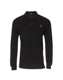 Paul & Shark Mens Black L/S Polo Shirt