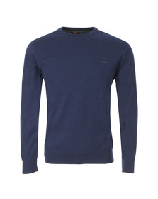 Paul & Shark Mens Blue L15P0019 Crew Neck Jumper
