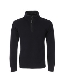 Paul & Shark Mens Blue 1/2 Zip Knitted Jumper