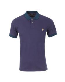 Paul Smith Jeans Mens Purple Regular Stripe Monkey Polo Shirt