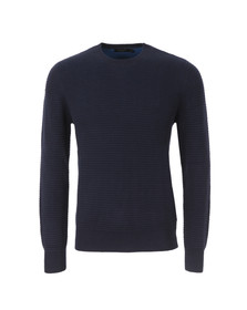 Paul Smith Jeans Mens Blue Chunky Crew Neck Jumper