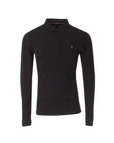 Farah Mens Black Merriweather L/S Polo Shirt