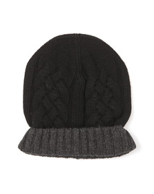 Paul Smith Jeans Mens Black Cable Beanie