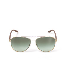 Michael Kors Womens Gold MK5007 Hvar Sunglasses