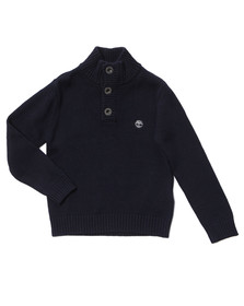 Timberland Boys Blue Boys Half Button Jumper